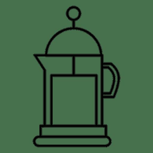 Café icono de bebida de cafetera Transparent PNG