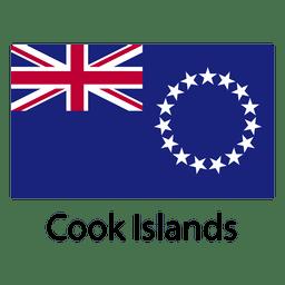 Bandera nacional islas de cocinero
