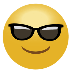 Cool emoticon emoji