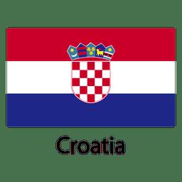 Bandeira nacional da Croácia
