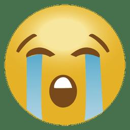Cry emoji emoticon