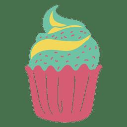 Cupcake doce pastel de alimentos