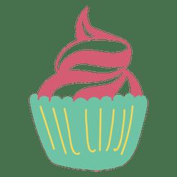 Postre dulce de la magdalena