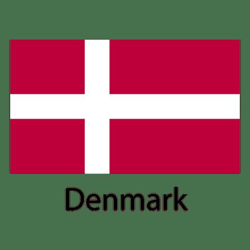 Bandeira nacional da Dinamarca Transparent PNG