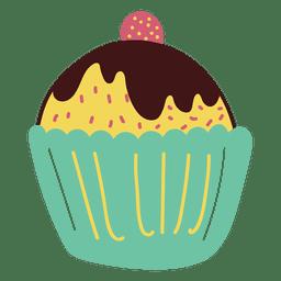 Doce de cupcake de sobremesa
