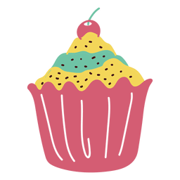 Sobremesa cupcake doce comida