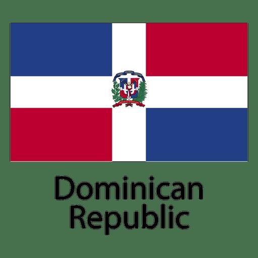 Bandera nacional de república dominicana