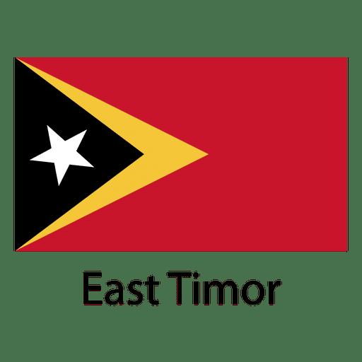 Bandera nacional de timor oriental Transparent PNG