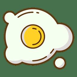 Alimento del huevo huevo frito de comida rápida