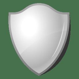 Etiqueta del escudo del emblema 3D