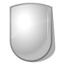 Emblema de escudo 3D brilhante