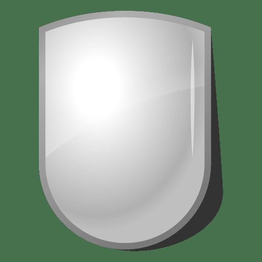 Emblema de escudo 3D brilhante Transparent PNG