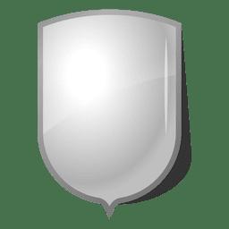 Rótulo de escudo de emblema brilhante