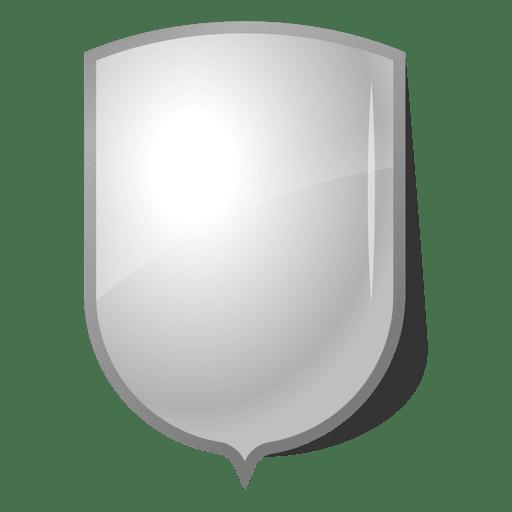 Glossy Emblem shield label