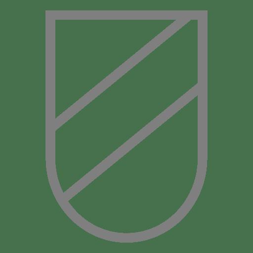 Etiqueta de escudo con emblema a rayas