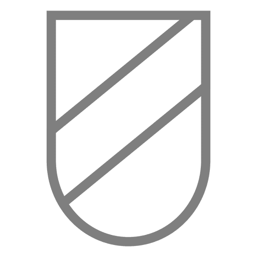Striped Emblem shield label