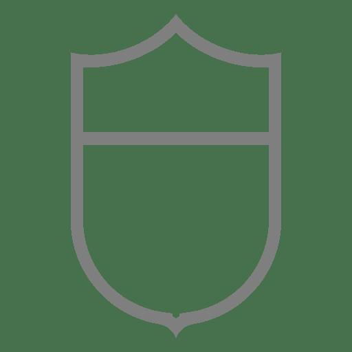 Emblem shield label template
