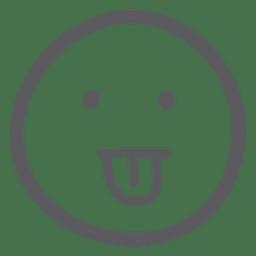 Emoticon de emoji pegando su lengua