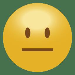 Emoticon emoticon cara recta