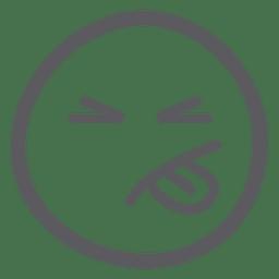 Emoticon, emoji, seu, língua, saída
