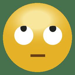 rollo de ojo risa emoji emoticono