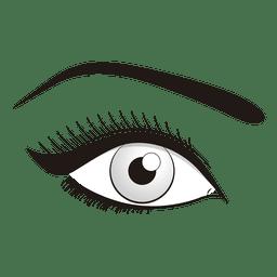 Ojo maquillaje ilustración