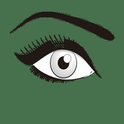 Ilustración de ojos con maquillaje