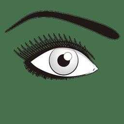 Auge machen Frau