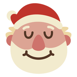 Eyes closed grin santa claus face emoticon 62