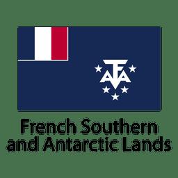 Bandeira nacional francesa das terras do sul e antárticas