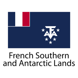French southern and antarctic lands national flag