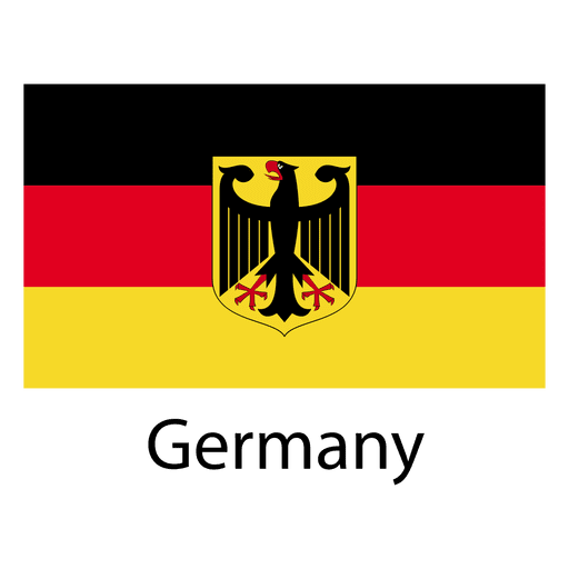 Bandera nacional de alemania Transparent PNG