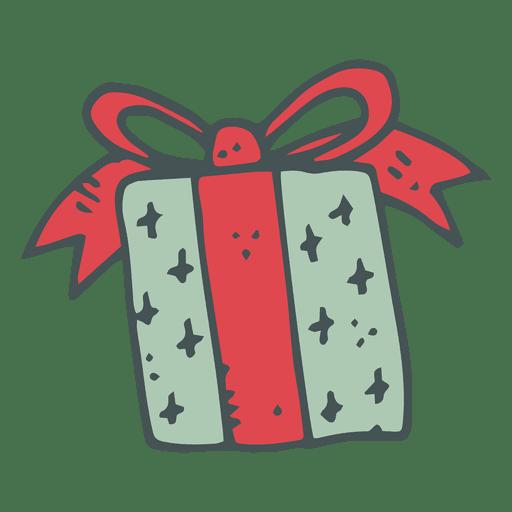Caixa de presente verde arco vermelho mão desenhada ícone 35 Transparent PNG