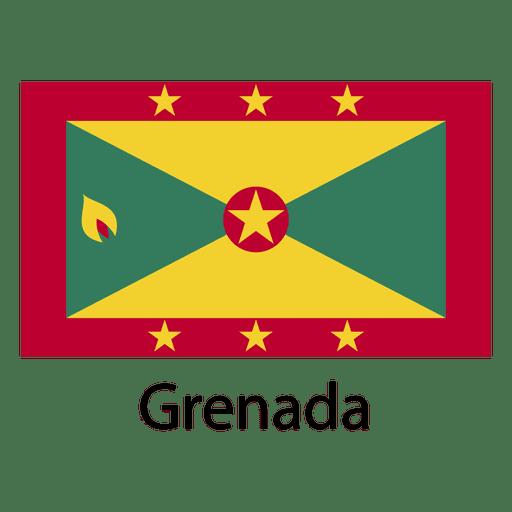 Bandera nacional de granada Transparent PNG