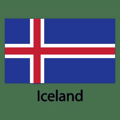 Bandera nacional de islandia