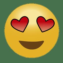 In der Liebe Emoji Emoticon