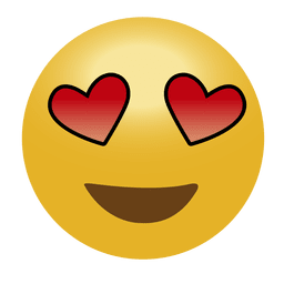 No emoticon do amor emoji