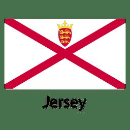Bandera nacional de jersey
