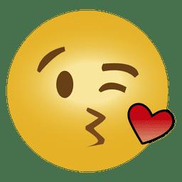 Emoticon lindo emoji besándose