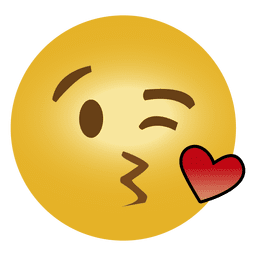 Emoticono lindo emoji besándose