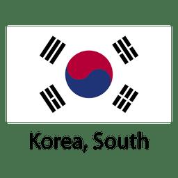 Bandeira nacional sul de Coreia