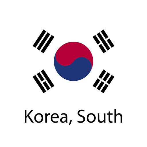 Bandera nacional de corea del sur