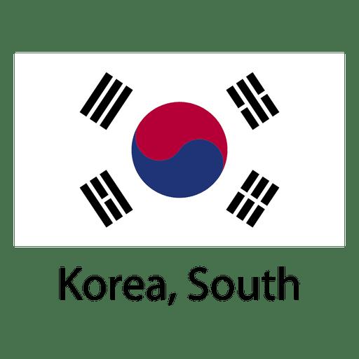 Korea south national flag