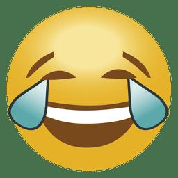 Emoticon de emoji de risa llorando