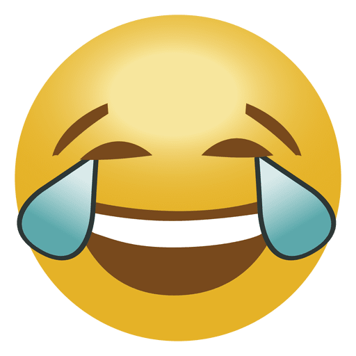 Laugh crying emoji emoticon - Transparent PNG & SVG vector