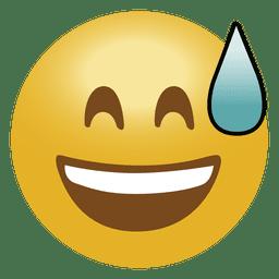Emoticon de Laugh drop emoji