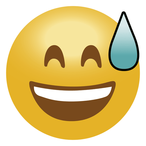 Laugh drop emoji emoticon
