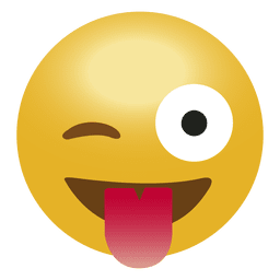 Emoticón de Laugh tongue emoji