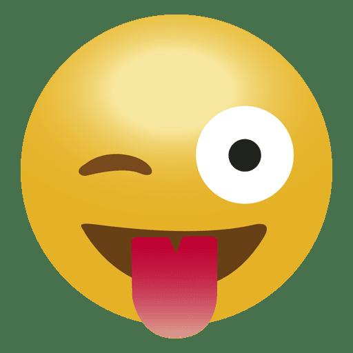Emoticon de emoji de lengua de risa