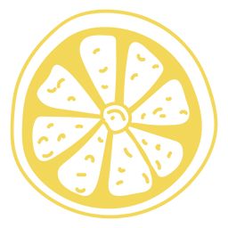 Doodle de limón en amarillo